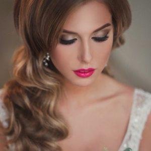 свадебный макияж в стиле голливудских звезд укладка романтическая