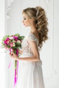 свадебный образ романтическая красавица