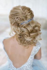 прическа собранная сзади в косу