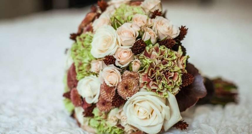 свадебный букет в кофейном цвете