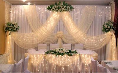 как на свадьбе применить лед подсветку