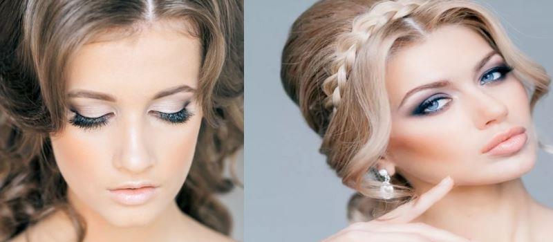 свадебный макияж в нежных тонах