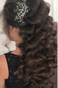 заколки и украшения для волос в вечерней прическе