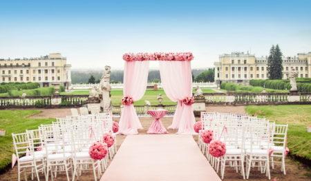 как красиво оформить подиум для регистрации брака