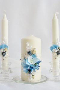 свечи украшенные лентами