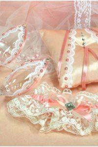 бокалы свадебные розовые
