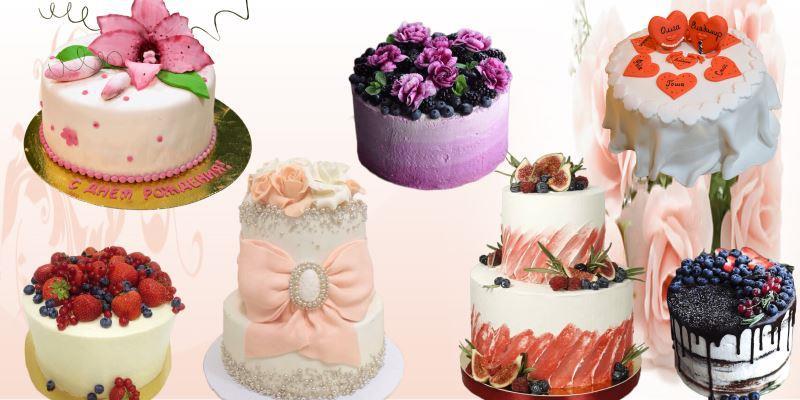 свадебные торты без мастики