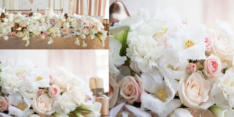 композиция на свадебный стол 100 см