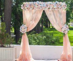 свадебная арка розовая