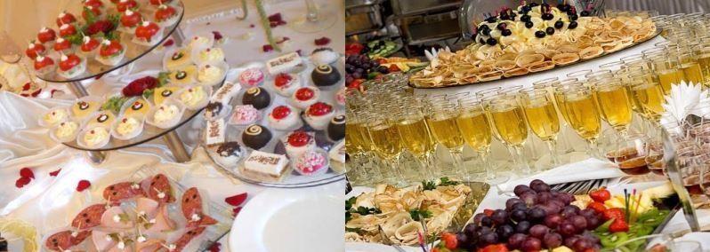 фуршетный стол на свадьбе