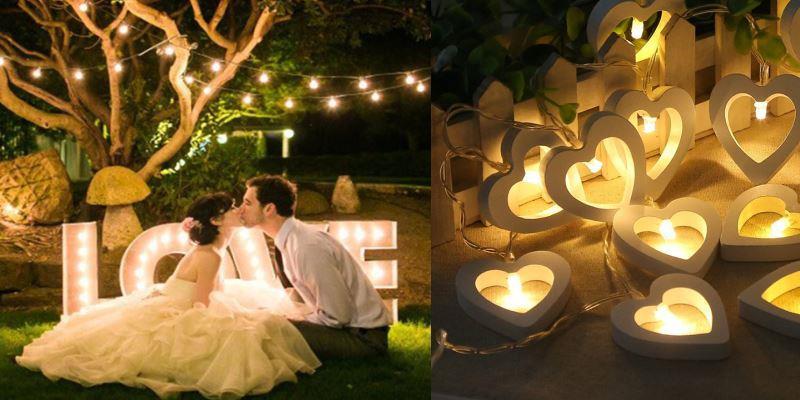 фотозона со светодиодами на свадьбу