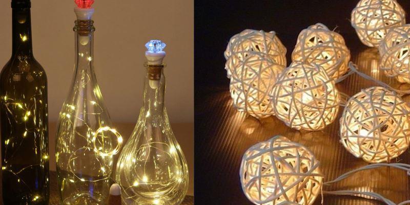 светящиеся бутыли на свадьбу