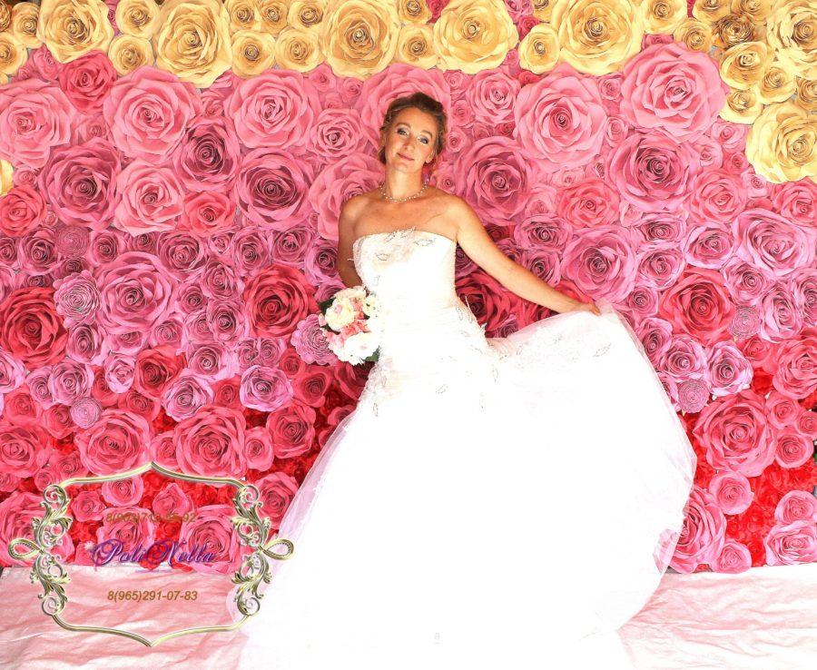 Фотозона красно-розовая градиент