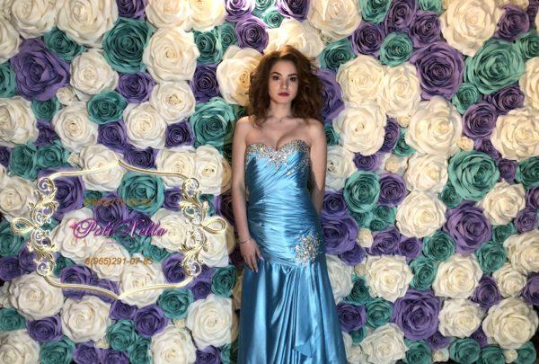 Фотозона на свадьбу в голубом
