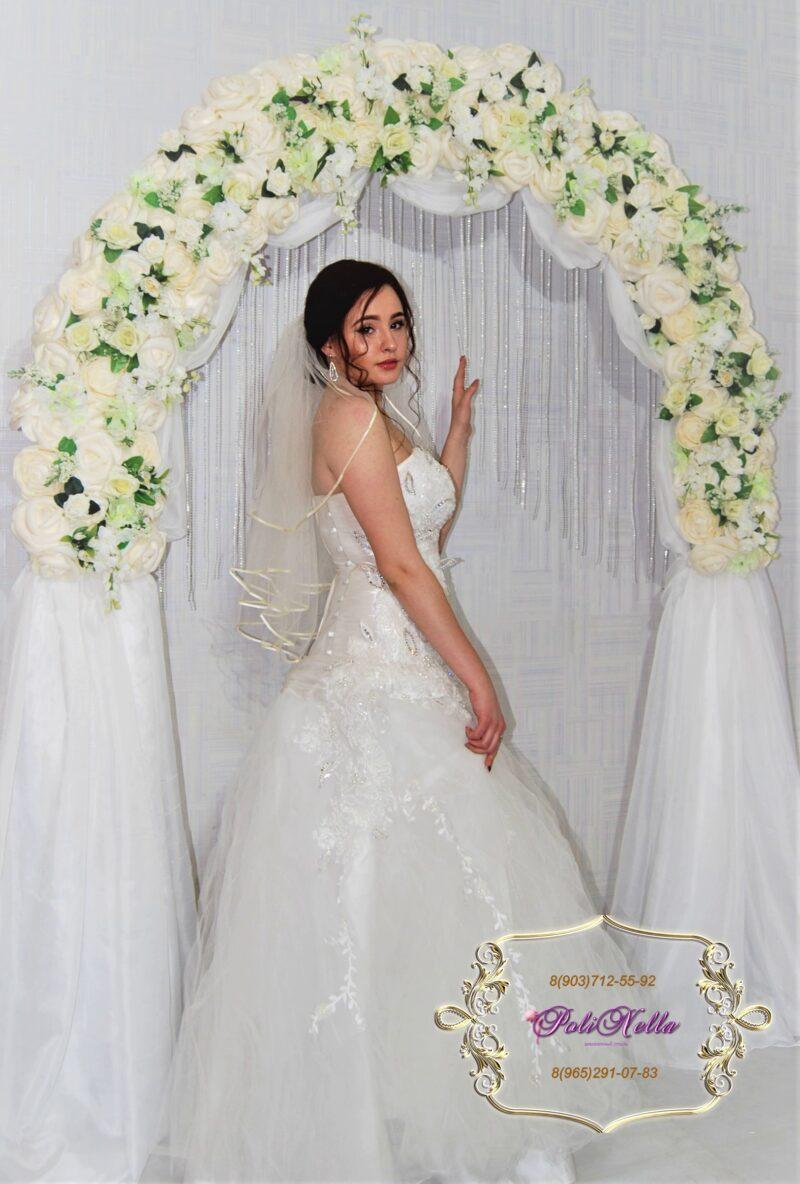 Фотозона свадебная арка