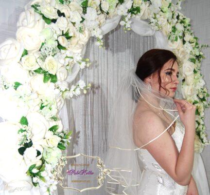 Фотозона белая в Москве на свадьбу