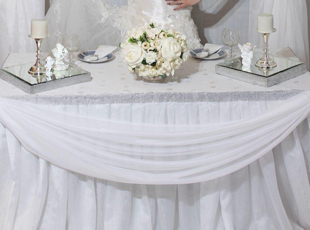 Президиум на свадьбу белый