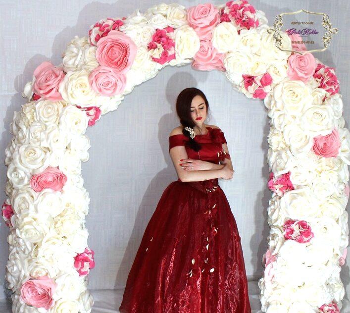 Фотозона боло-розовая на свадьбу