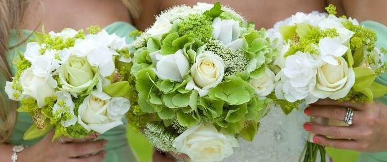 свадебный букет бледно зеленого цвета