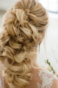 широкая киприотская коса в свадебной прическе фото
