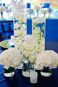 свадебные свечи в белом цвете