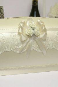 чемоданчик для денег белого цвета