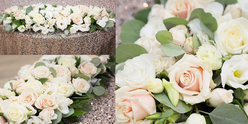 композиция на стол невесты 60 см
