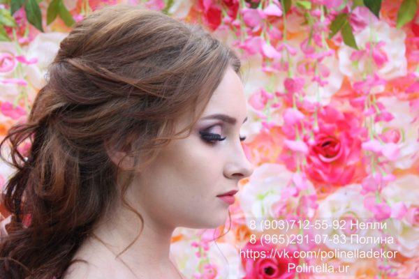 Свадебный макияж на дому в розовой цветовой гамме