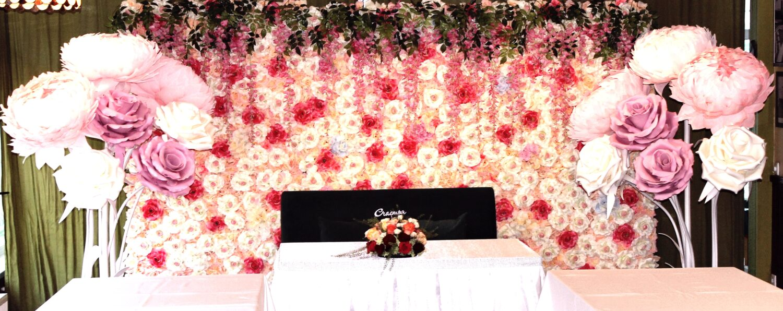 Большие цветы на свадьбу