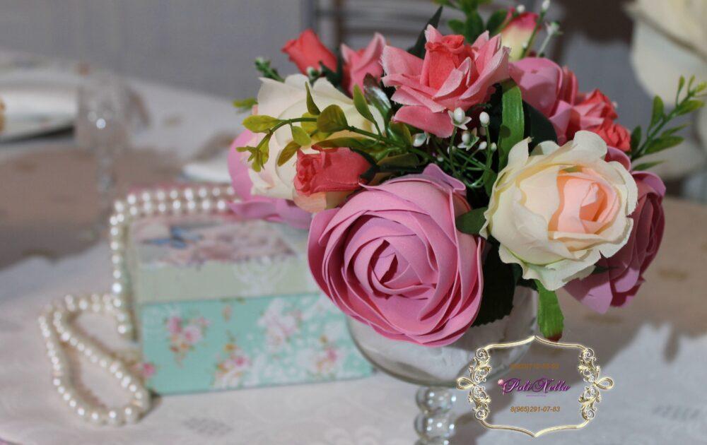 Розовые цветы для свадьбы