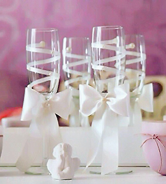 Бокалы на свадьбу ручной работы Москва