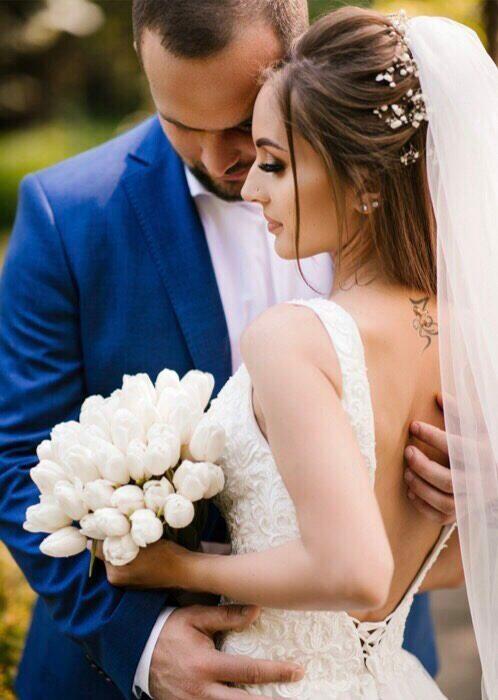 Организация выездной свадьбы в голубом